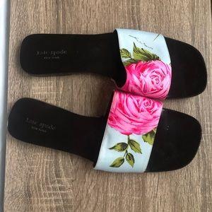 Kate Spade 8.5 floral slides miles sandals slip on